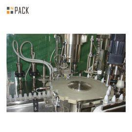 Botol Mengisi Botol Kimia / Foaming Detergent Mengisi Talian Mesin Dengan Servo Mengisi Mesin