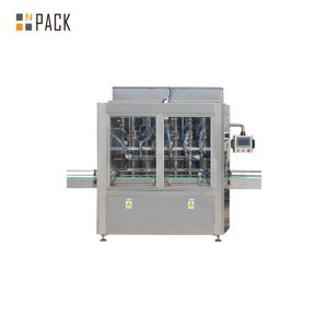 PLC Control 10 Heads Gravity Bottle Filling Machine Untuk 1 - 5L Cleaner Bleach