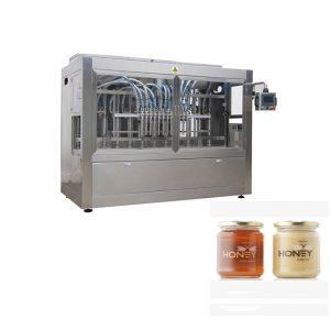 PLC Control 8 Nozzles Paste Filling Machine, 400G Glass Jam Jar Filling Machine