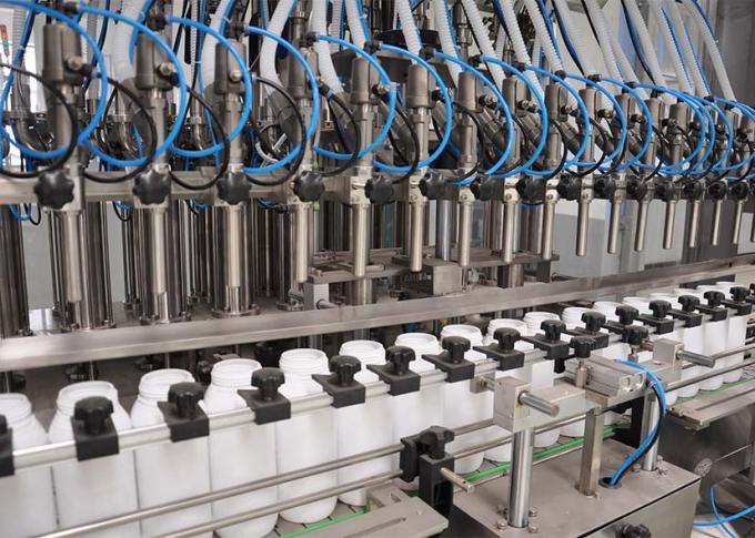 PLC Control Cucian Detergent Filling Machine Line Dengan Kecekapan Pengeluaran yang Tinggi
