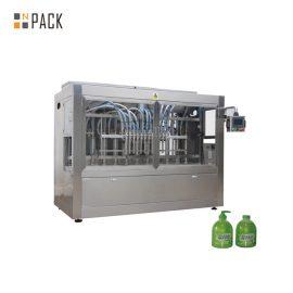 16 Nozzle Piston High Viscosity Liquid Filling Machine Untuk 100ml-1L Liquid Sabun / Losyen