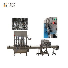 Rotary Crimping Electric ROPP Capping Machine 6 Heads For Aluminum Cap Bottles