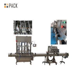 Tekan Tekan Pada Mesin Pemadam Botol Automatik 8 Kepala Untuk Minyak Padi / Talcum Serbuk